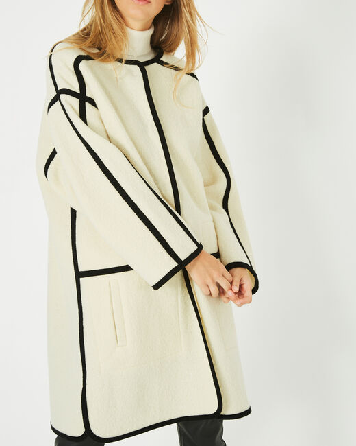 Manteau long noir et blanc Josh (2) - 1-2-3