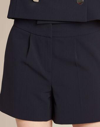 Sabi navy blue pleated shorts navy.
