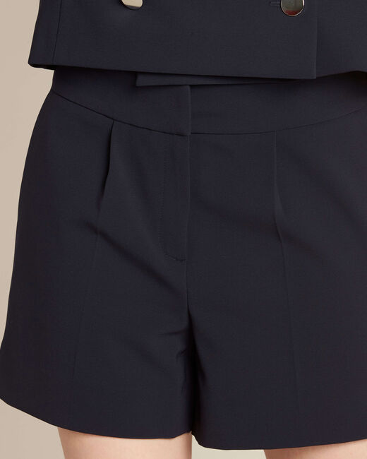 Sabi navy blue pleated shorts (2) - 1-2-3