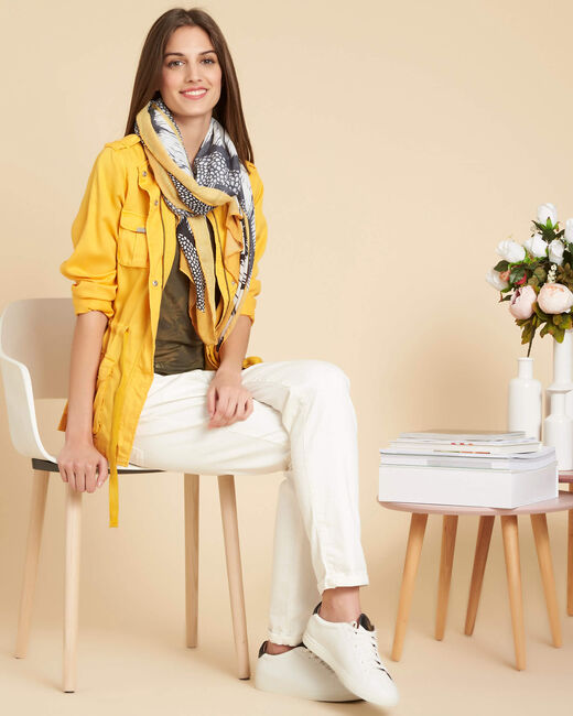 Veste jaune soleil fluide à poches Casa (1) - 1-2-3