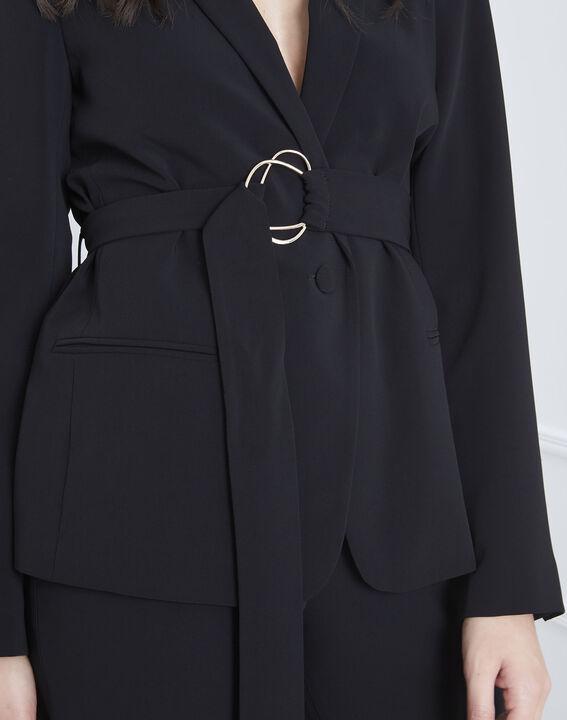 Veste noire détail doré ceinture Fanny (3) - Maison 123