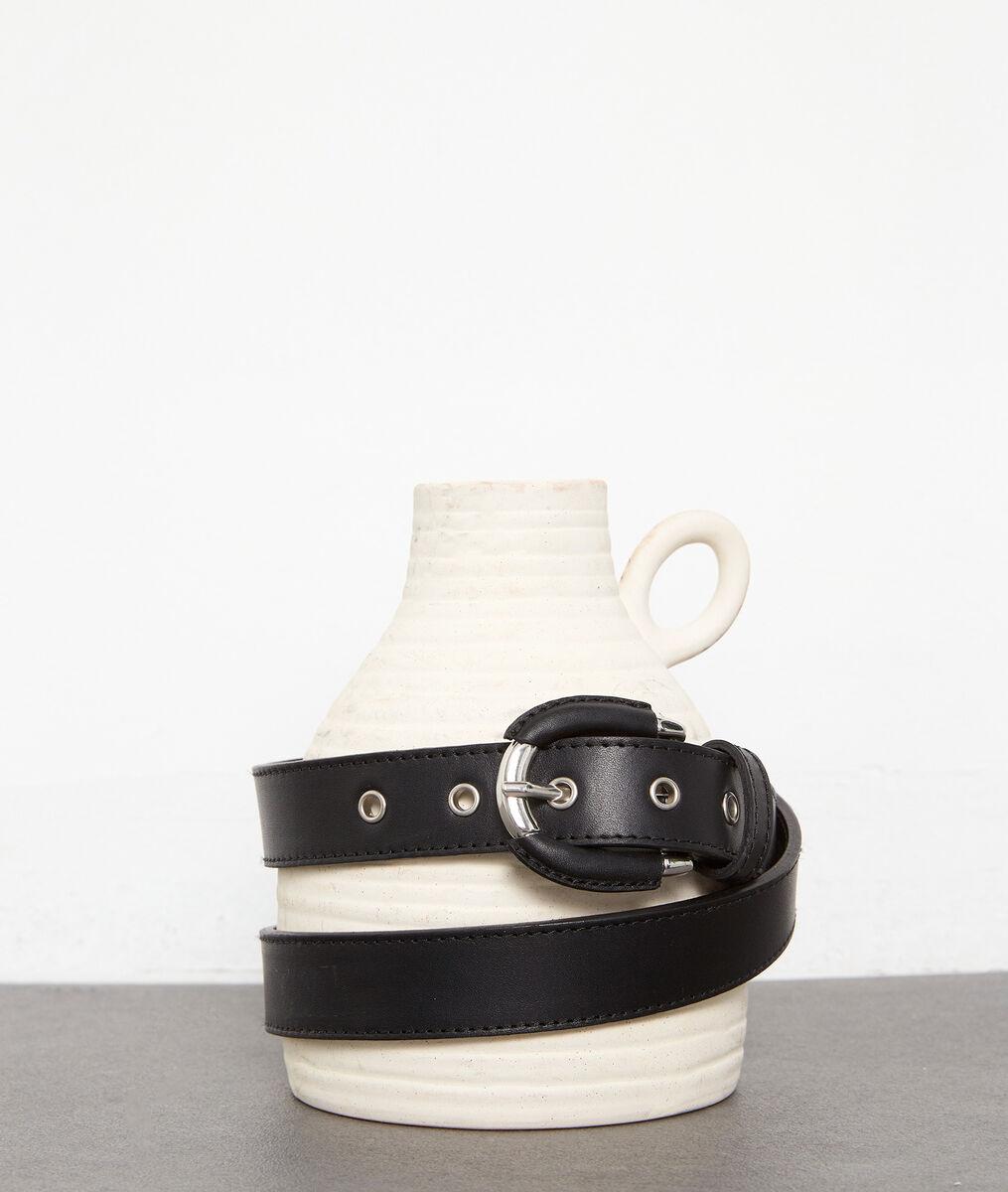 Fijne riem van zwart leer Eleonore PhotoZ | 1-2-3