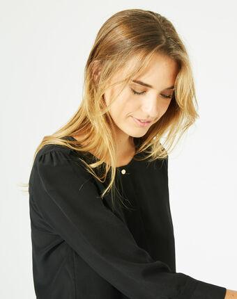Blouse noire en soie dorothée noir.