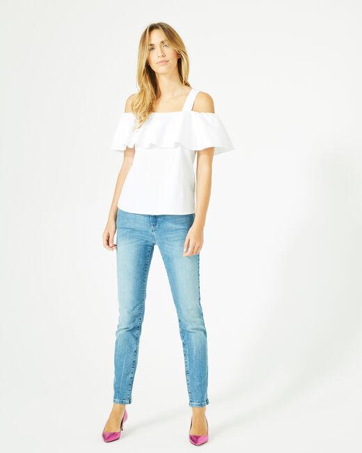 Top blanc épaules dénudées Emerine (1) - 1-2-3