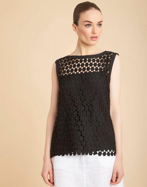 Guimauve black lace openwork top (3) - 1-2-3