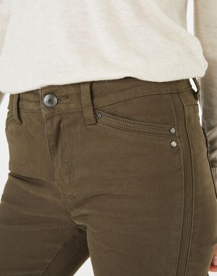 Pantalon 7/8ème kaki satin Pia (3) - 1-2-3