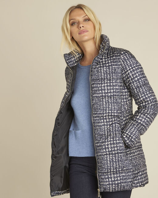 Pepita printed quilted down jacket (2) - 1-2-3
