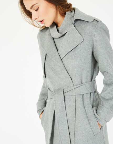 Manteau long gris en laine Jill (3) - 1-2-3