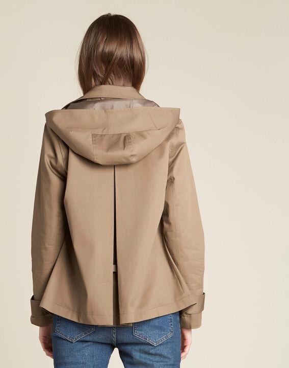 Kisaure leaf-green short trench coat (4) - 1-2-3