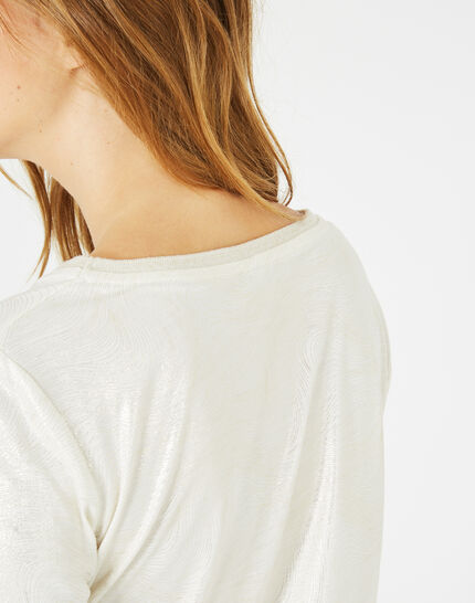 Tee-shirt écru brillant Night (4) - 1-2-3