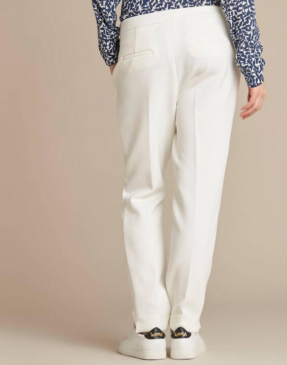 Pantalon de tailleur ecru slim Lara (4) - 1-2-3