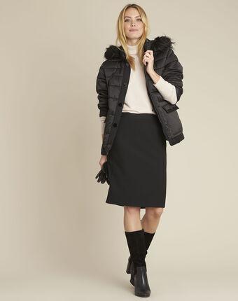 Patty short black down jacket black.