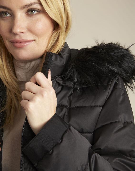 Doudoune noire courte capuche Patty (3) - 1-2-3
