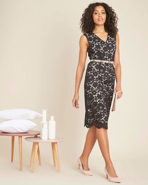Istory black straight-cut lace dress (2) - 1-2-3