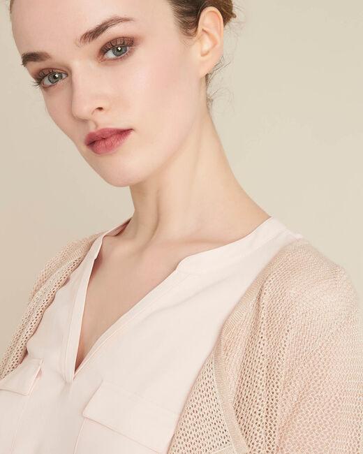 Noisette fine-knit golden cardigan (2) - 1-2-3