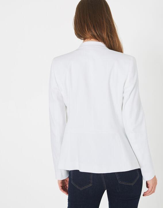 Veste blanche piquée Bea (4) - 1-2-3
