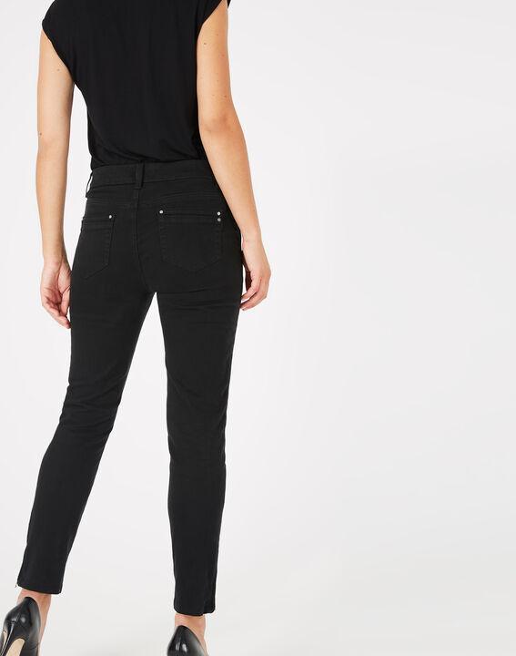 Pantalon 7/8ème noir satin Pia (4) - 1-2-3