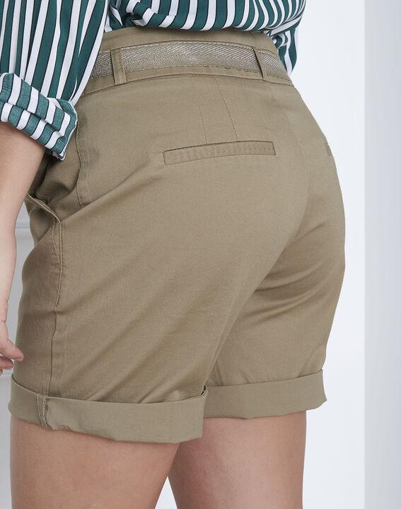 Short vert coton ceinture James (4) - Maison 123