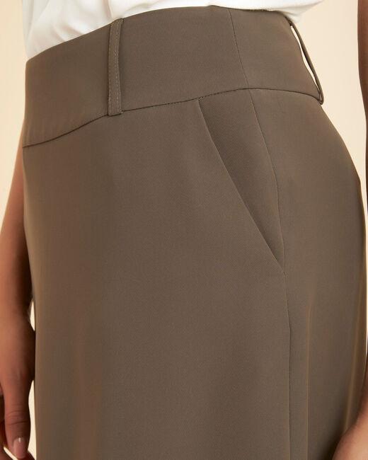 Frost long khaki skirt (1) - 1-2-3