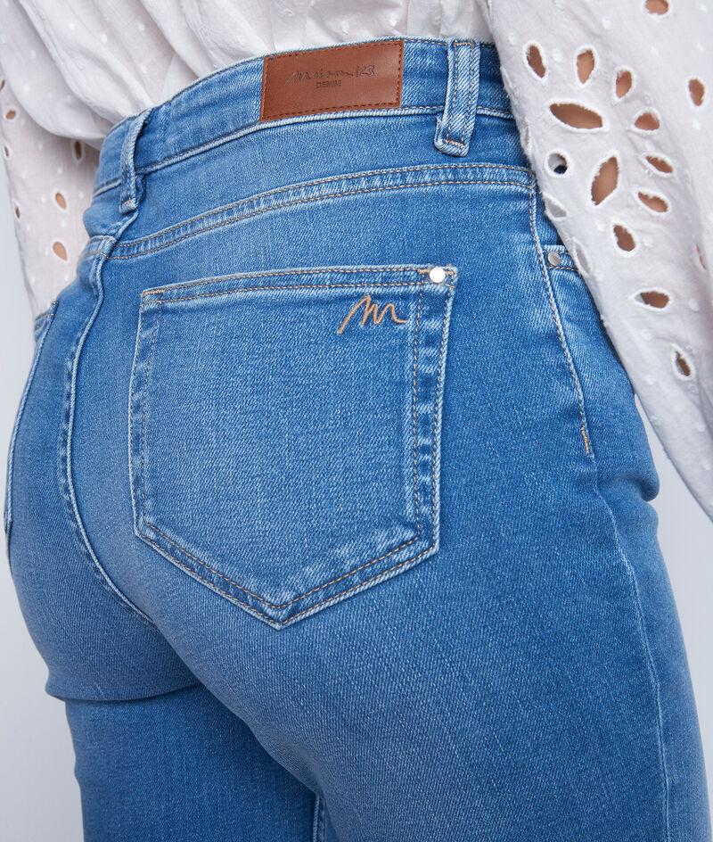 Straight-Leg-Jeans in Used-Optik aus recycelter Bio-Baumwolle mit Stone-Wash-Effekt Sonia PhotoZ | 1-2-3