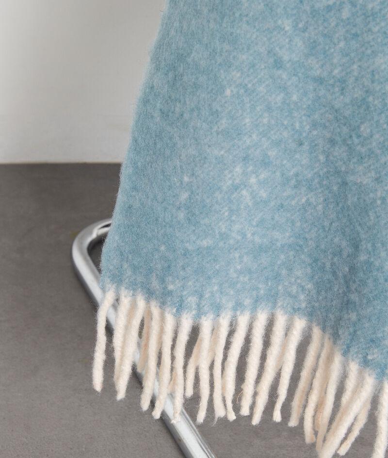 Echarpe épaisse à franges bleu ciel Presley PhotoZ | 1-2-3
