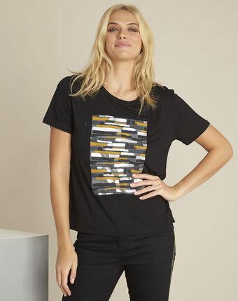 Gartiste black printed t-shirt black.