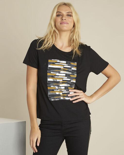 Tee-shirt noir imprimé Gartiste (1) - 1-2-3