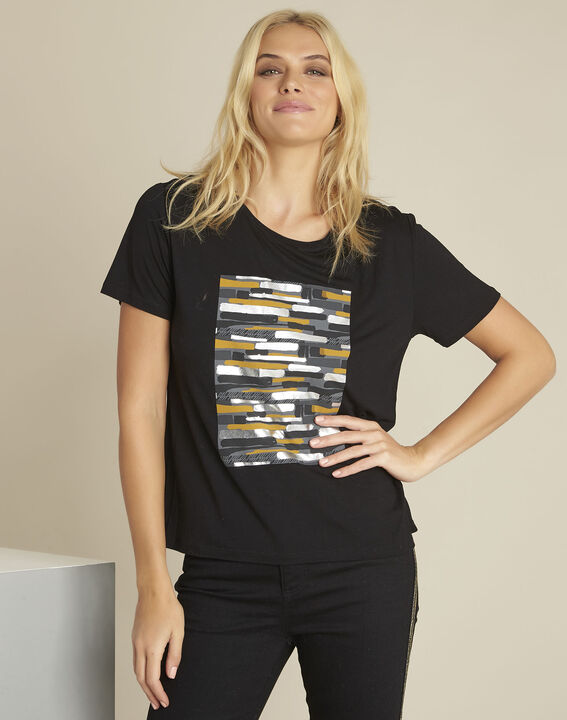 Tee-shirt noir imprimé Gartiste PhotoZ | 1-2-3