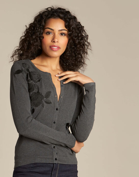Nora grey embroidered cardigan (3) - 1-2-3
