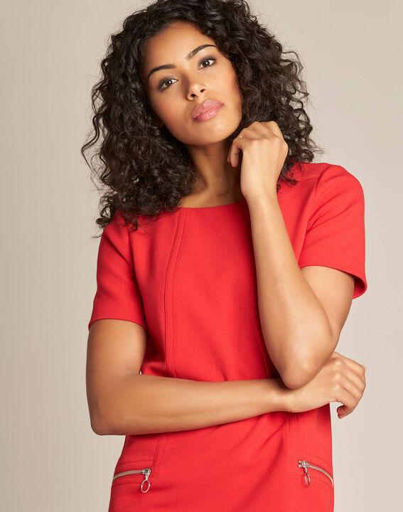 Robe droite rouge Amanda PhotoZ | 1-2-3