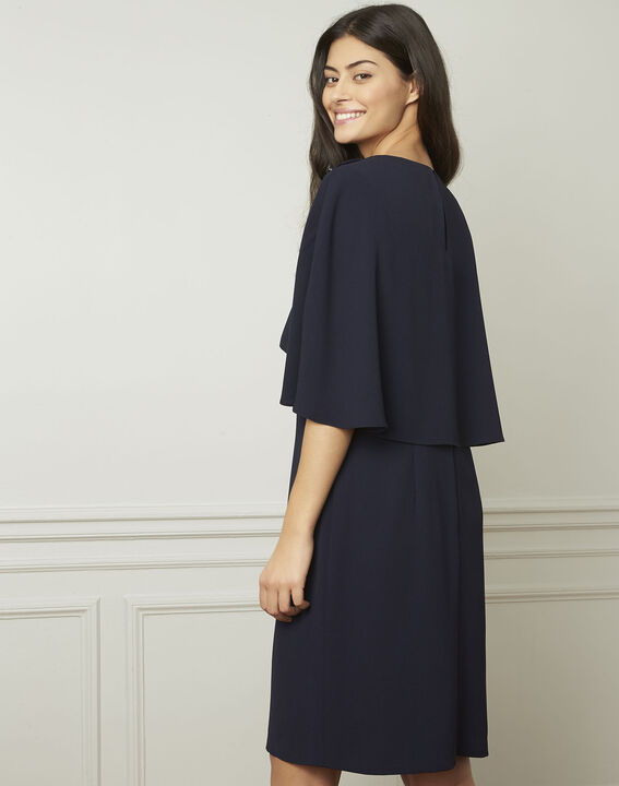 Heidi navy dress with cape detail  (3) - 1-2-3
