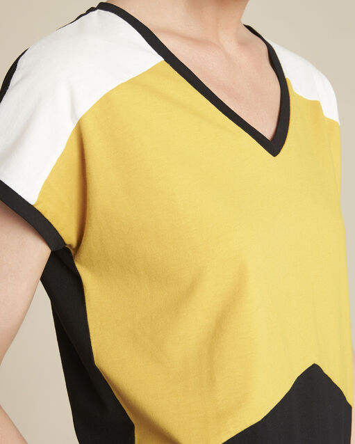 Tee-shirt jaune colorblock Garvine (2) - 1-2-3