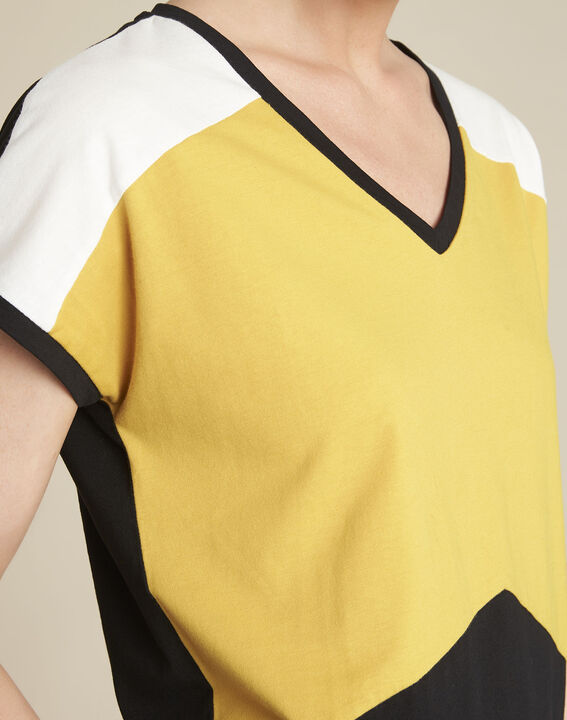 Tee-shirt jaune colorblock Garvine (3) - 1-2-3
