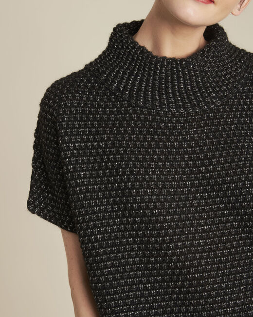 Bami black high collar wool mix pullover (2) - 1-2-3