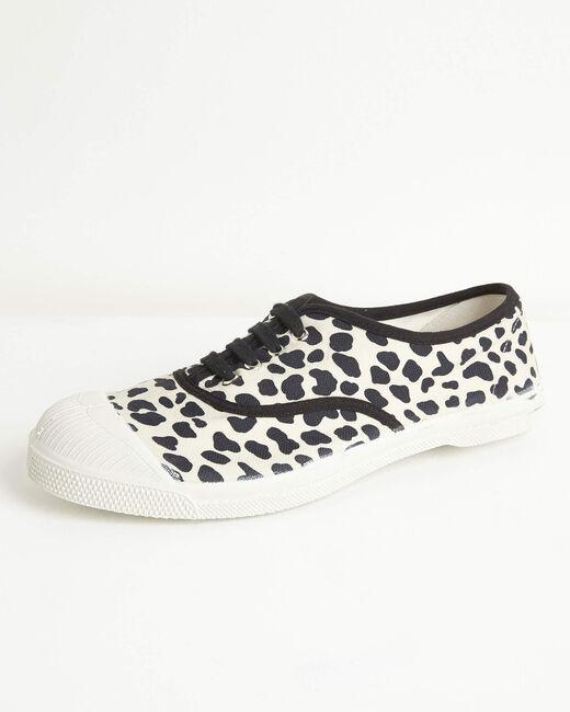 Kassandre cotton leopard print trainers (1) - 1-2-3