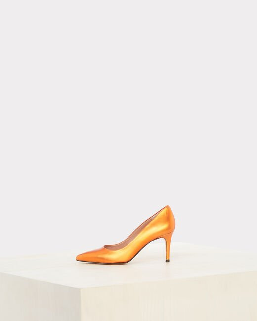 Nastasia orange heels with pointed toe (1) - 1-2-3