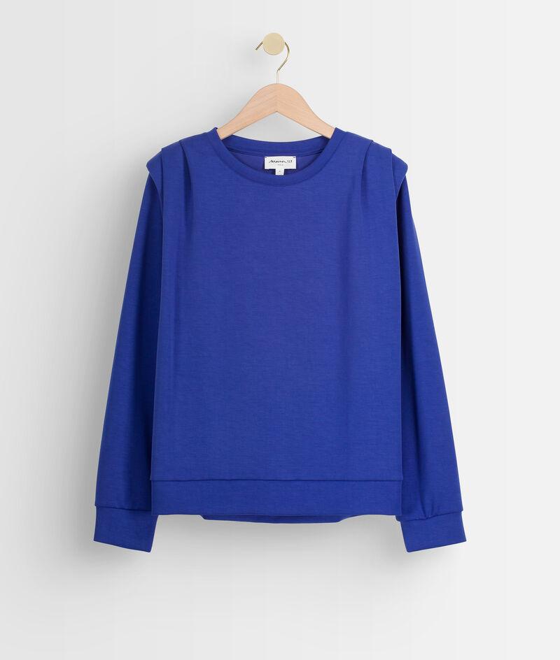 Sweat-shirt à épaulettes bleu électrique Ice PhotoZ | 1-2-3