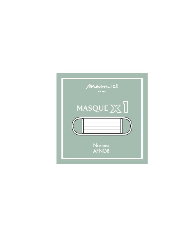 Masque barrière imprimé carreaux PhotoZ   1-2-3