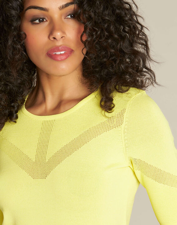 Pull citron encolure fantaisie Nymphe (1) - 1-2-3