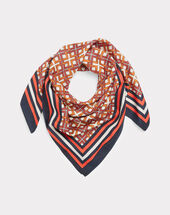 Foulard imprimé graphique elodie orange.