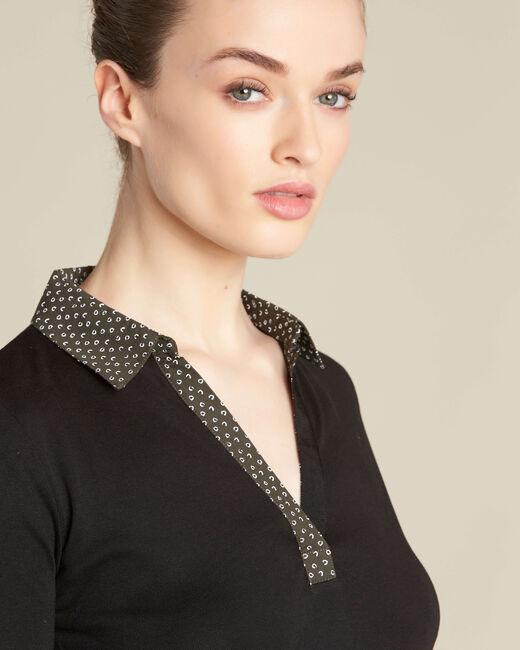 Bowling bis black T-shirt with printed collar (1) - 1-2-3