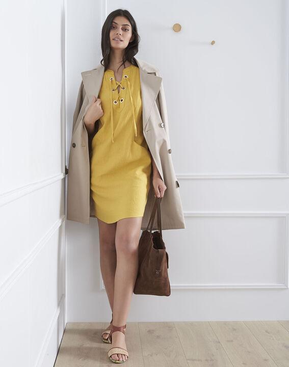 Robe jaune oeillets et lacets Lucky (2) - Maison 123