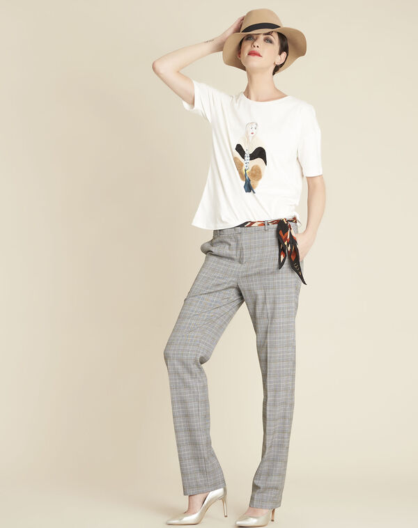 Pantalon gris motif Prince de Galles Natura (1) - 1-2-3
