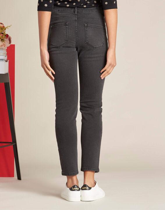 Graue bestickte 7/8-Jeans Vendome (4) - 1-2-3
