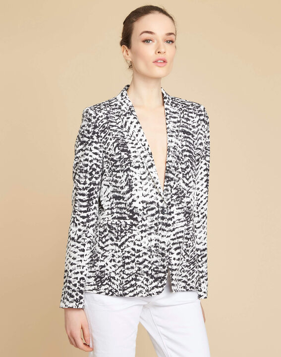Demoiselle black and white printed jacket (3) - 1-2-3
