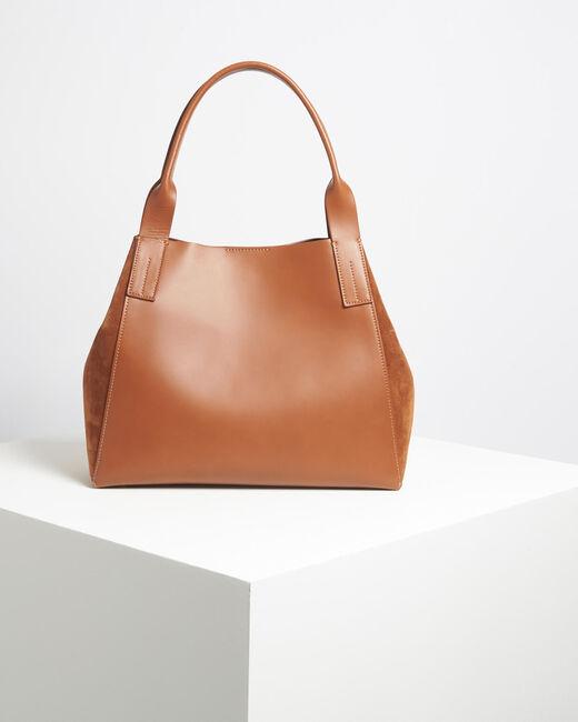 Doddy dual-fabric camel bag (1) - 1-2-3