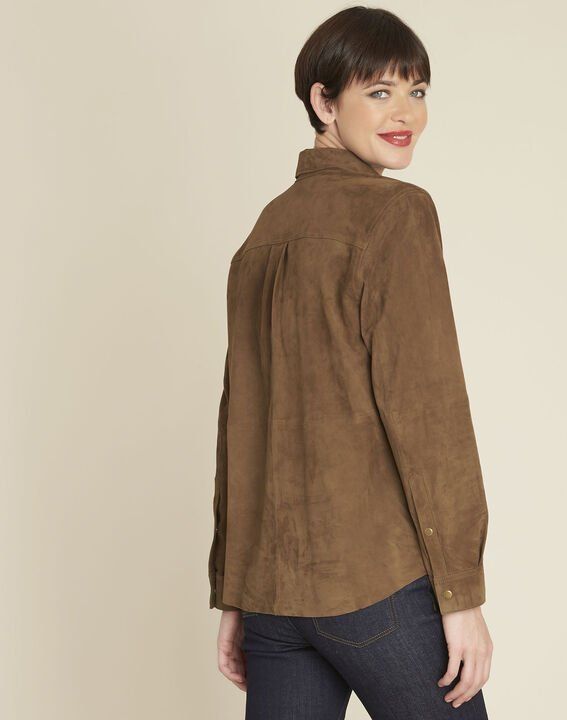 Vincianne camel suede goat leather blouse (4) - 1-2-3