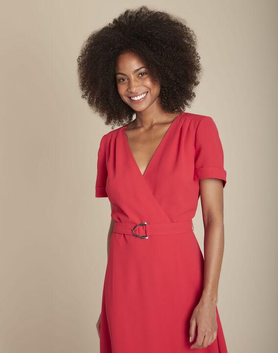 Robe cache-cœur dansante rouge Risia PhotoZ | 1-2-3