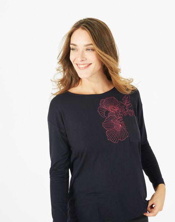 T-shirt broderie florale Bacchus (3) - 1-2-3