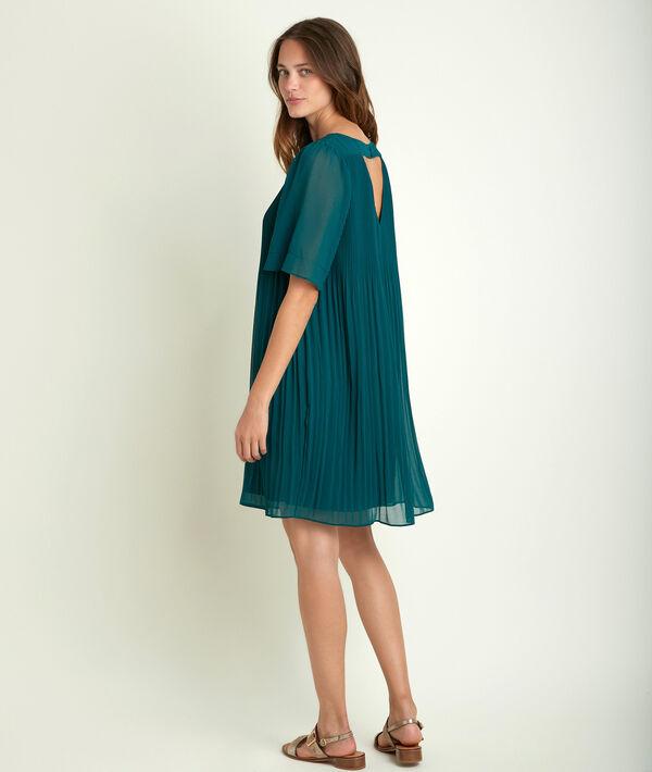 Grünes plissiertes Kleid Coralia PhotoZ | 1-2-3